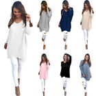 Women's Long Sleeve Casual Pullover Sweater Shirt Ladies Loose Blouse Jumper New
