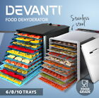 5-Star Chef Food Dehydrator Commercial Stainless Steel Fruit Dryer Maker 8/10/12