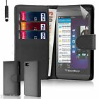 32nd Book Wallet PU Leather Case for Blackberry Z10 + Screen Protector & Stylus