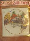 """Fall Mill Pond"" Embroidery Kit by Sunset Stitchery---New but has been opened"