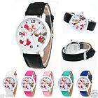 Unisex Watch Christmas Pattern Leather Band Women Analog Quartz Watch Xmas Gift