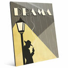 Click Wall Art 'Drama Film' Graphic Art on Plaque