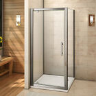 New Pivot Hinge Shower Door Enclosure and Side Panel 6mm Glass Screen Cubicle