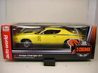AUTO WORLD 1:18 SCALE YELLOW 1971 DODGE CHARGER R/T HEMI