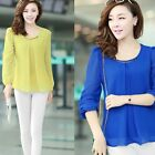 Women Fashion Leisure Sexy Long Sleeve Chiffon Bodycon Shirt Career Blouse Tops