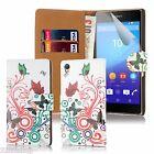 32nd Design Book Wallet Case Cover for Sony Xperia Z3 + Screen Protector