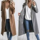 Women Charm Wool Trench Coat Parka Long Winter Casual Warm Jacket Outwear AU