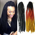 "20"" Soft Dreadlocks Twist Hair Crochet Braid Synthetic Ombre Hair 100g"