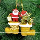 Santa Claus Christmas Shoes Party Tree Hanging Decorations Ornament Xmas Gift LS