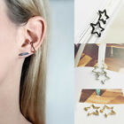 Women Lady Chic Simple Punk Style 3 Colors Star Ear Clip Earrings Gift