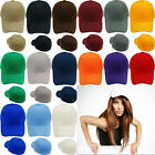Unisex  Sticker Plain Baseball Cap Solid Blank Curved Visor Hat Adjustable Solid