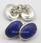 925 Silver Men's Cufflinks LAPIS LAZULI, BLACK ONYX & Other Gemstones Variation