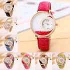 Fashion Women's Quicksand Analog Round Dial Wristwatch New Leather Quartz Watch