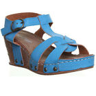 13058 Womens Wedge Sandals Open Toe Side Buckle Ladies Gorgeous Summer Sandals
