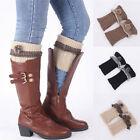 Womens Winter Leg Warmer Boot Toppers Cuffs Crochet Knitted Leggings Boot Sock i