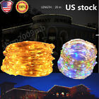20M 200 LED Fairy String Light Outdoor Wedding Xmas Party Lamp Crystal 8 Modes