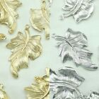 Leaf Metal Beads Pendants Gold Silver Beads for Jewelry Making Supplies #203