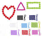 20pcs Food Grade Silicone Teeth Beads Baby Chewing Bracelets DIY Necklaces