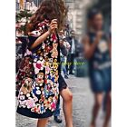 Womens Fashion Bear Cute Floral Long Coats Wool Overcoat 2017 New Outwear Jacket