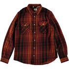 LEVIS VINTAGE CLOTHING 1950s SHORTHORN CHECK SHIRT BURGUNDY