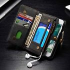 For iPhone 7 7 Plus Luxury Genuine Leather Wallet Flip Multifunction Case Cover