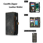 For iPhone 6 6S Plus Multifunction Genuine Leather Wallet Card Slot Case Cover