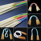 18Pcs 40-120cm Multicolor Tube Circular Carbonized Bamboo Knitting Needles New