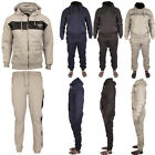 New Mens Full Top Bottom Sports Hooded Hoodie Gym Jogging Tracksuits Sizes S-XL
