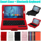 """For Huawei M3 8.4"""" Tablet PC Detachable Bluetooth Keyboard + Smart Leather Case"""