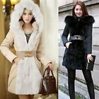 2016 Women\'s Winter Jacket Long Down Jacket Padded Coat Ladies Slim Hooded Parka