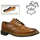 MENS LEATHER GOODYEAR WELTED CASUAL OFFICE SMART LACE UP BROGUE SHOES BOOTS SIZE