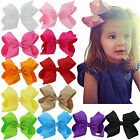 20pcs Baby Big Hair Bows Boutique Girls Alligator Clip Grosgrain Ribbon Fashion