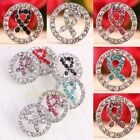 Austrian Crystal Ribbon Cancer AWARENESS Round Heart Loose Spacer Beads Findings