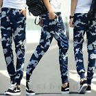 New Mens Military Camouflage Camo Casual Pants Joggers Sport Sweatpants Trouser