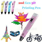1st/2nd 3D Printing Pen Crafting Doodle Drawing Arts Printer + PLA/ABS Filament