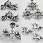 10/20Pcs Tibet Silver Various Shapes Charm Beaded Pendants Jewelry Findings