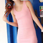 Fashion Summer Woman Cotton Vest Base Skirt Backless Casual Mini Dress US