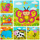 LOVELY ANIMALS WOODEN 9PCS COLORFUL JIGSAW PUZZLE TOY TODDLER FOR KIDS DULCET