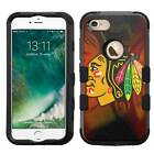 Chicago Blackhawks Hybrid Rugged Impact Armor Case for iPhone 5s/SE/6/6s/7/Plus $19.95 USD on eBay