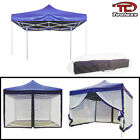 10' x 10' Canopy With Mosquito Net Fold Able Gazebo Tent- Blue