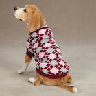 Dog Puppy Sweater - Hooded Argyle - East Side Collection - Pink - Choose Size