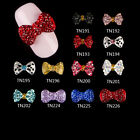 10pcs DIY Bowknot Art Alloy Decor Crystal Rhinestone Manicures TN191-TN226