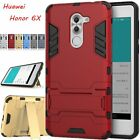 For Huawei Honor 6X Case Hybrid Kickstand Armor Slim Protective Hard Phone Cover