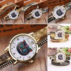 New Women Fashion Casual Artificial Leather Band Round Dial Quartz Watch N4U8