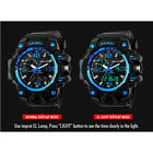 SKMEI Big Dial Quartz LED Wrist Mens Analog Digital Waterproof Military Watch P