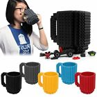 Creative 350ML Drinkware Building Blocks Mugs DIY Block Puzzle Mug Coffee Cup