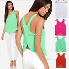 Sexy Womens Chiffon Backless Strap Blouse Shirts Tank Top Cami Vest Summer N4U8