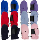 Toddler Fleece Insulated Mittens Boys Girls Clips Palm Grip Warm Winter Snow