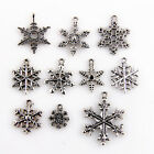 Snowflake Charms Tibetan Silver Pendants Beads Jewelry Making DIY Accessories