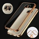 ShockProof Silicone Bumper TPU Clear Slim Case Cover For Samsung Galaxy Phones